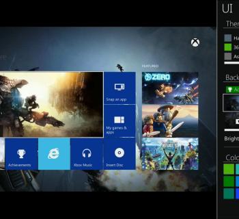 Dashboard Prototype Xbox One
