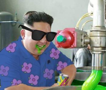 Kim Jong meme banner