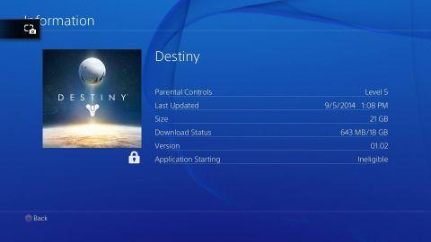 Destiny Pre-load ps401