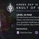 Destiny Raid Volta di Vetro