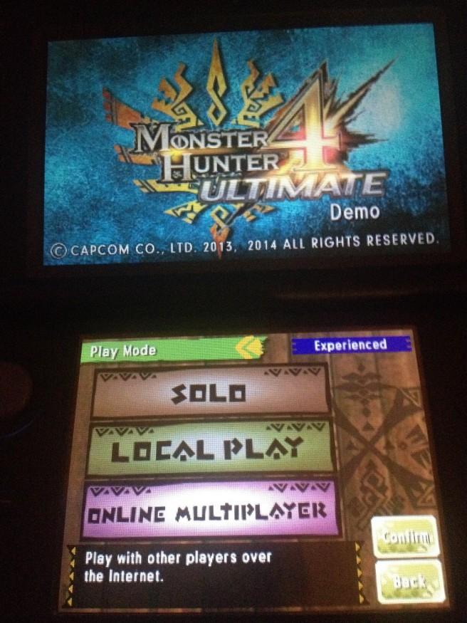 MH4 Ultimate demo 01