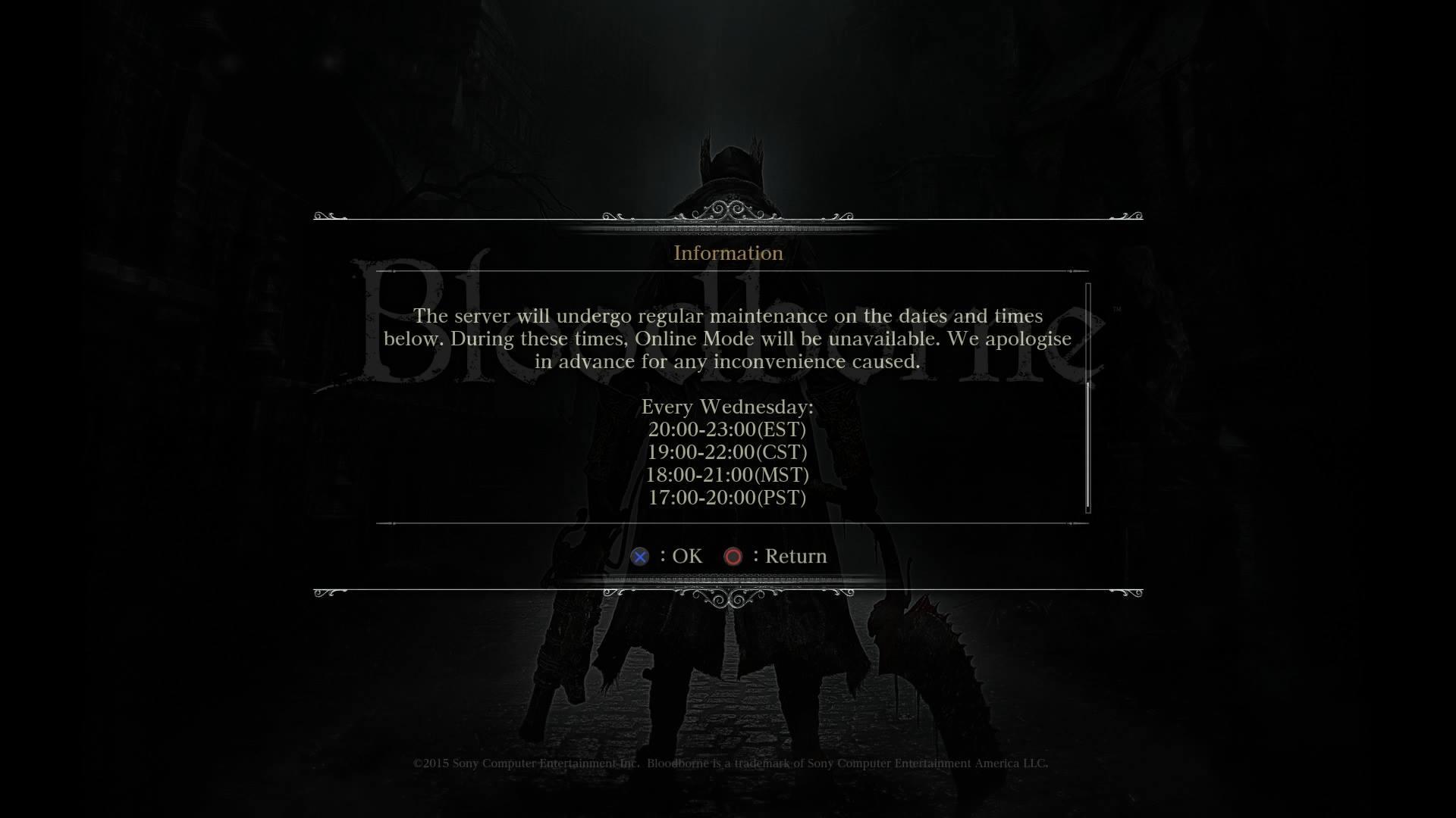 bloodborne-in-game-announcement-maintenance