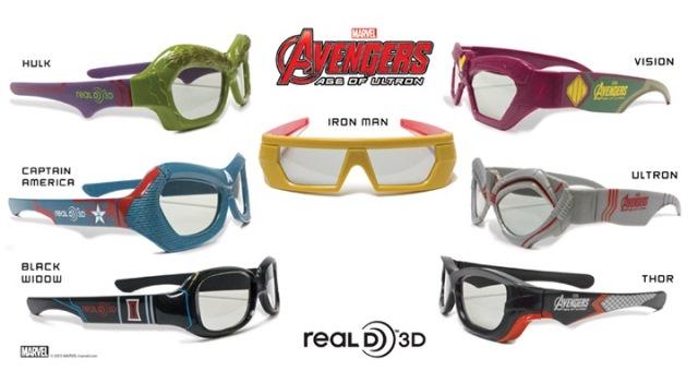 Occhiali 3D Avengers