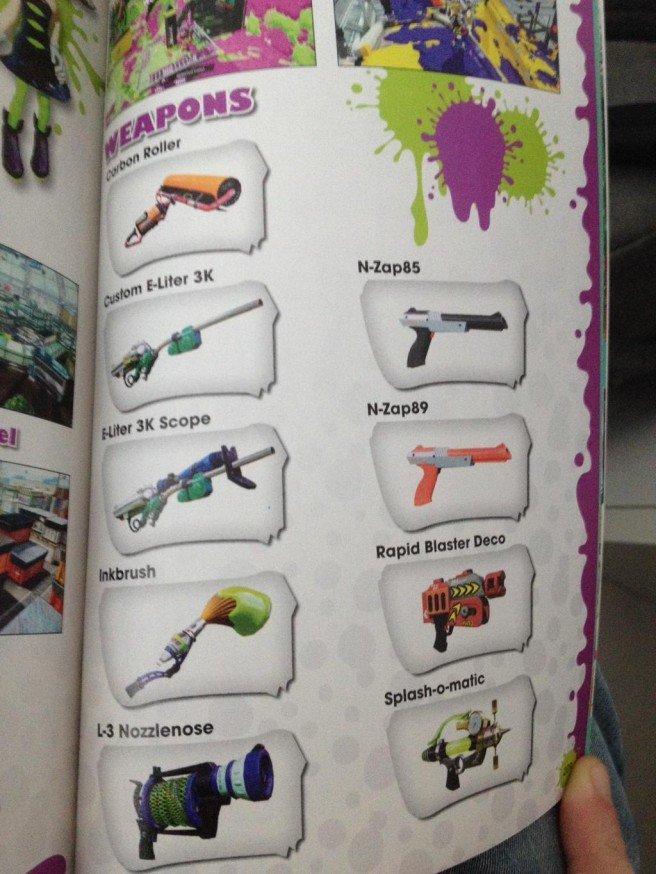 Splatoon armi DLC