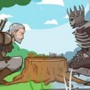 The Witcher 3 parodia