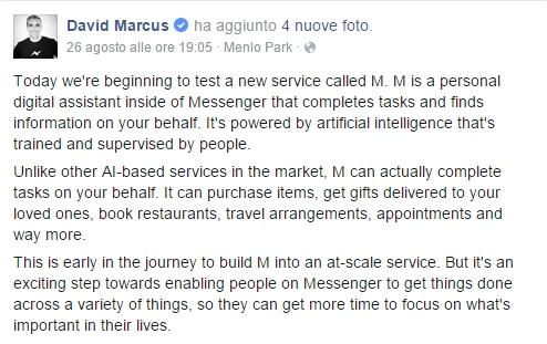 david marcus facebook M 1