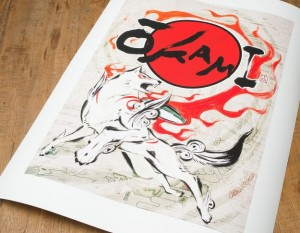 Okami print picture