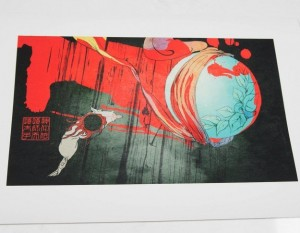 wolf amaterasu from okami in print by cook and becker
