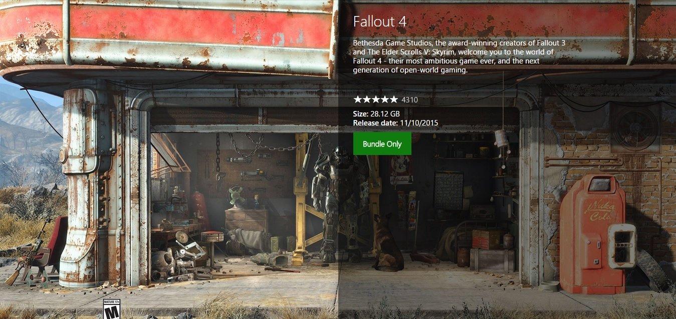 fallout-4 dimensioni xbox one