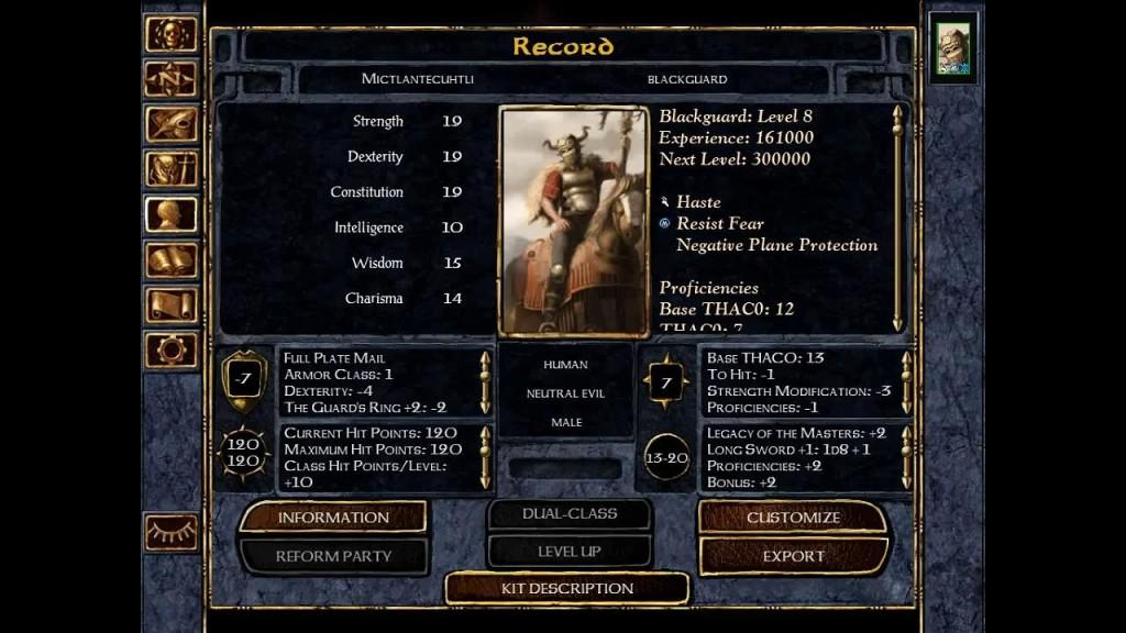 Baldur's Gate Siege - Creazione PG