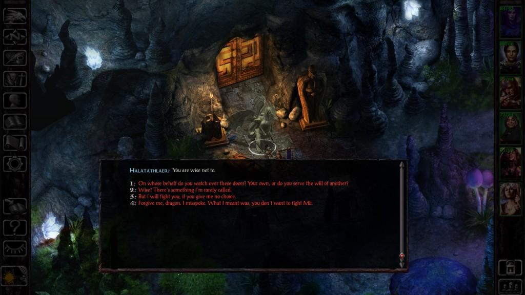 Baldur's Gate Siege - Dialogo