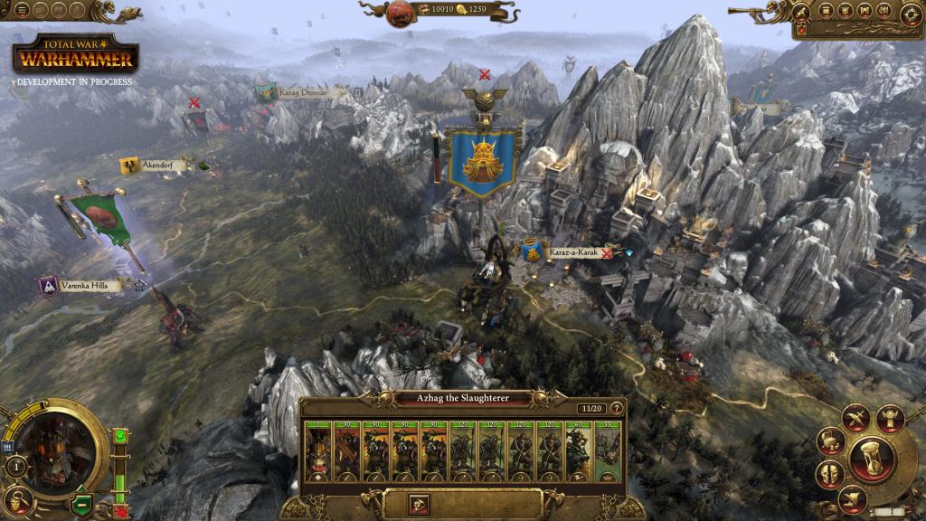 Total War Warhammer - Mappa Strategica