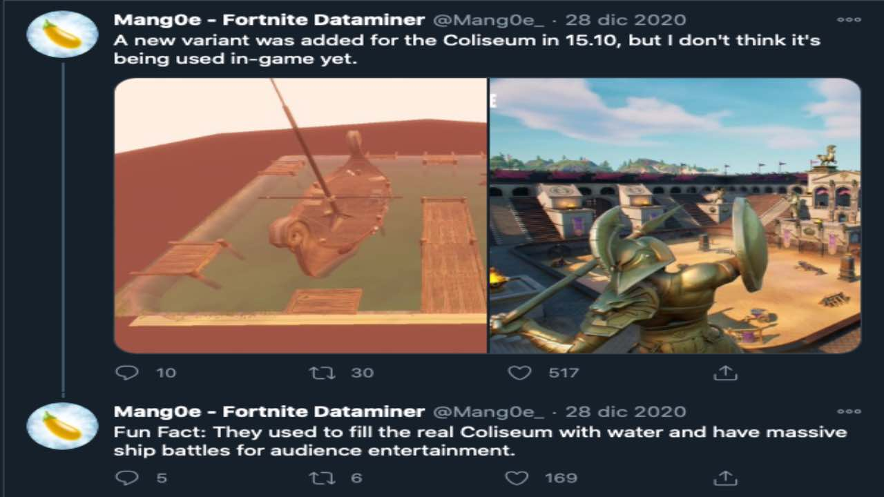 Fortnite Colosseo Colossale