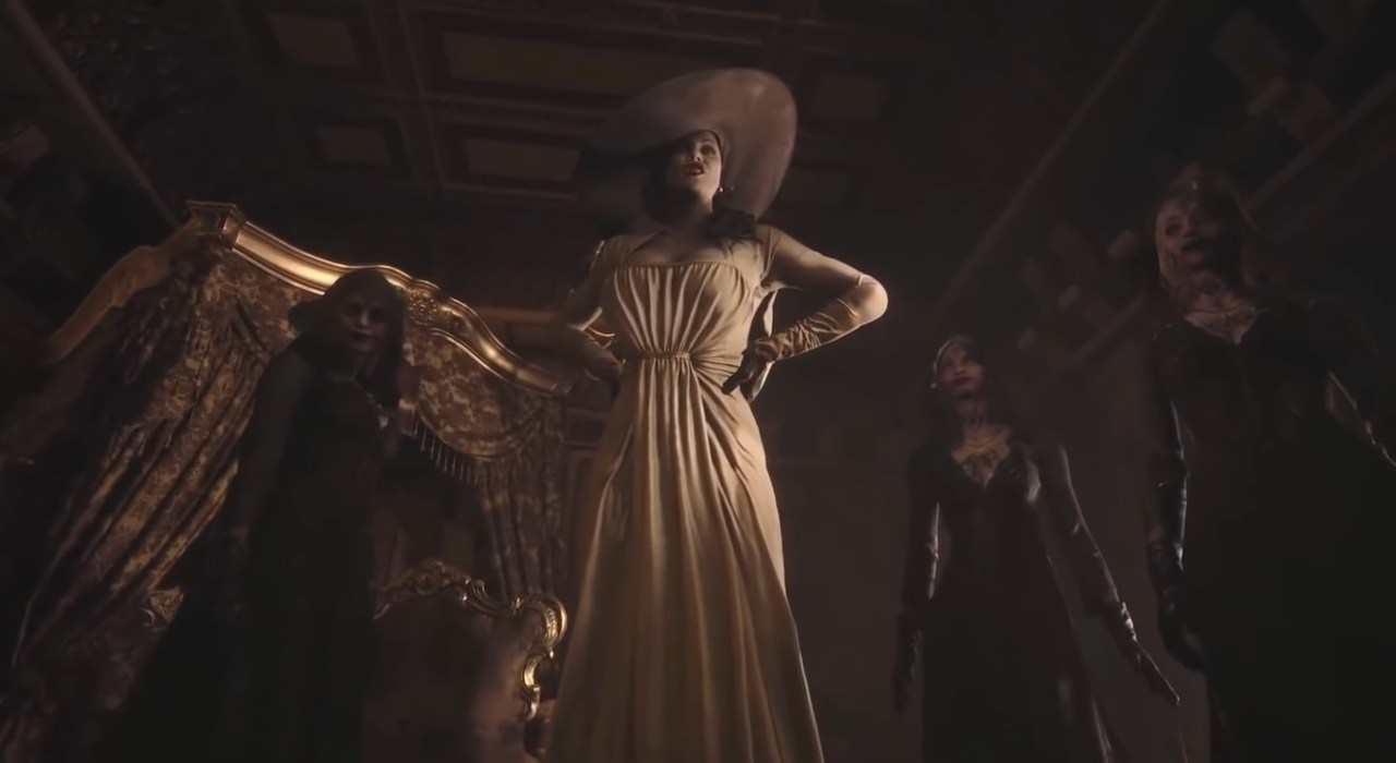 screenshot con Lady Dimitrescu Resident Evil Village