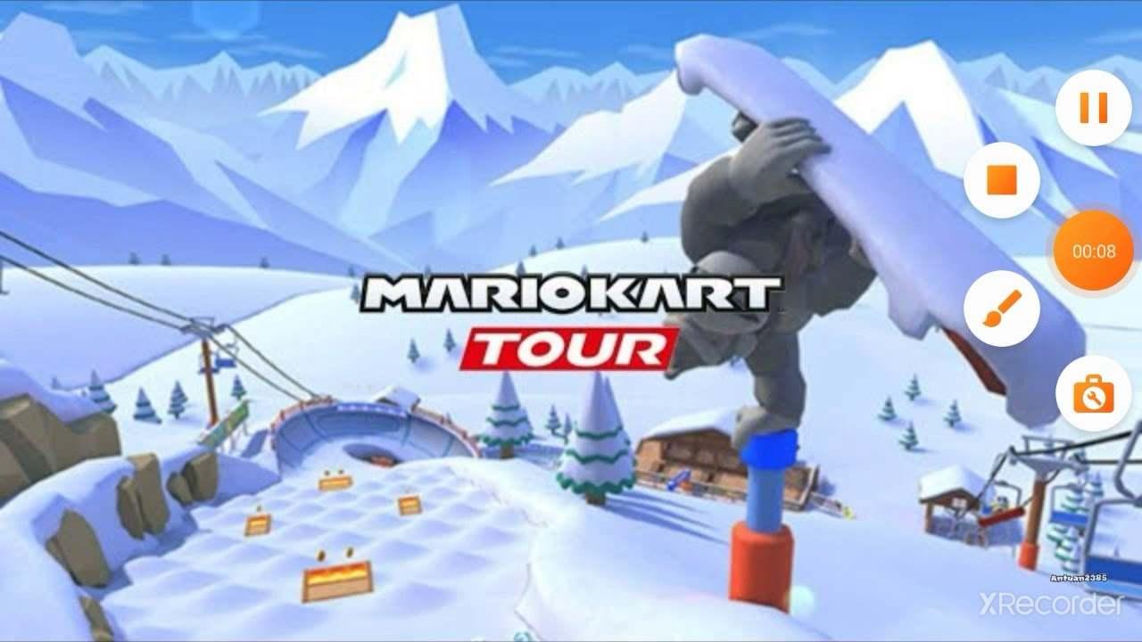 mario kart tour snow tour 1