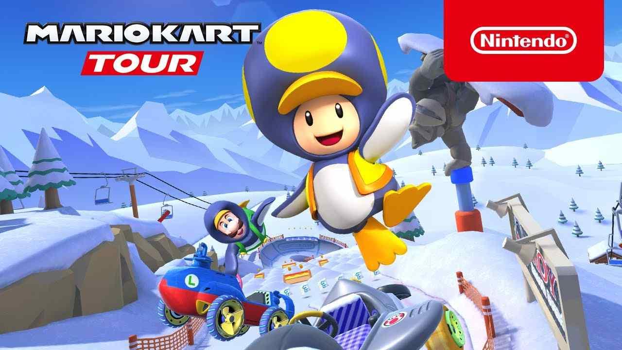 mario kart tour snow tour