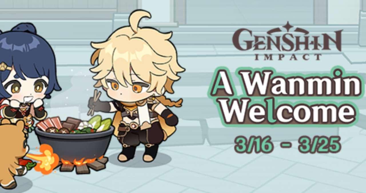 genshin impact wanmin welcome