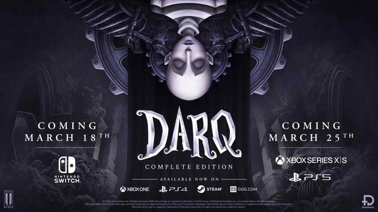 DARQ: Complete Edition arriva su Nintendo Switch, PS5 e Xbox Series X/S