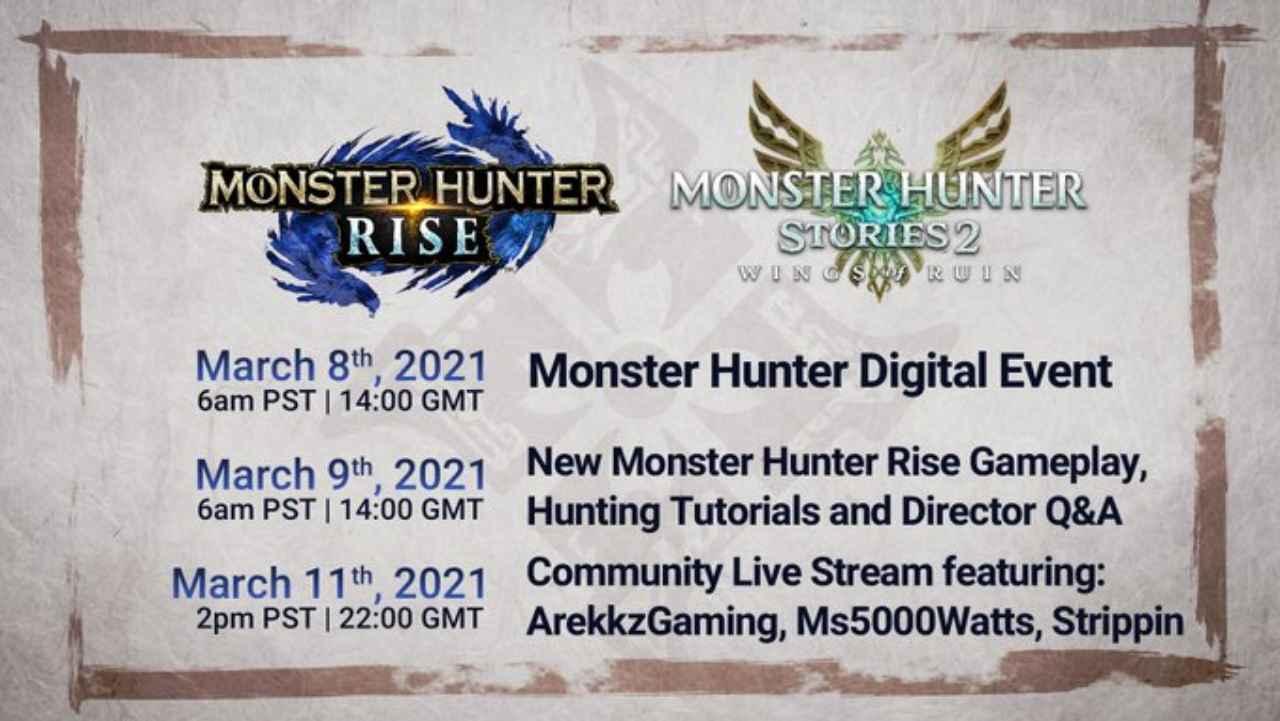 monster hunter rise evento