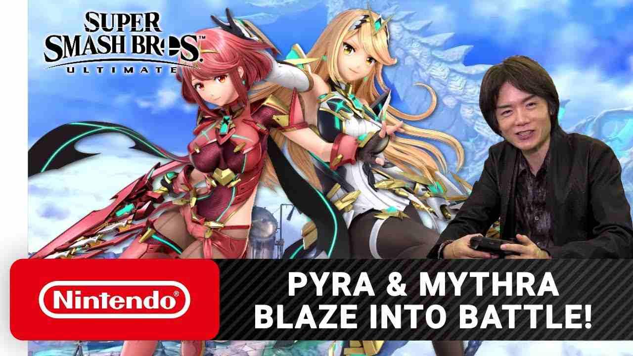 pyra mythra super smash bros ultimate sakurai
