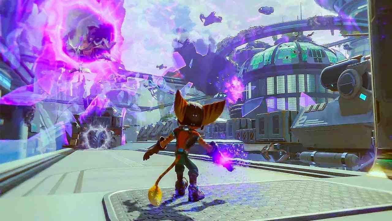ratchet clank rift apart gameplay