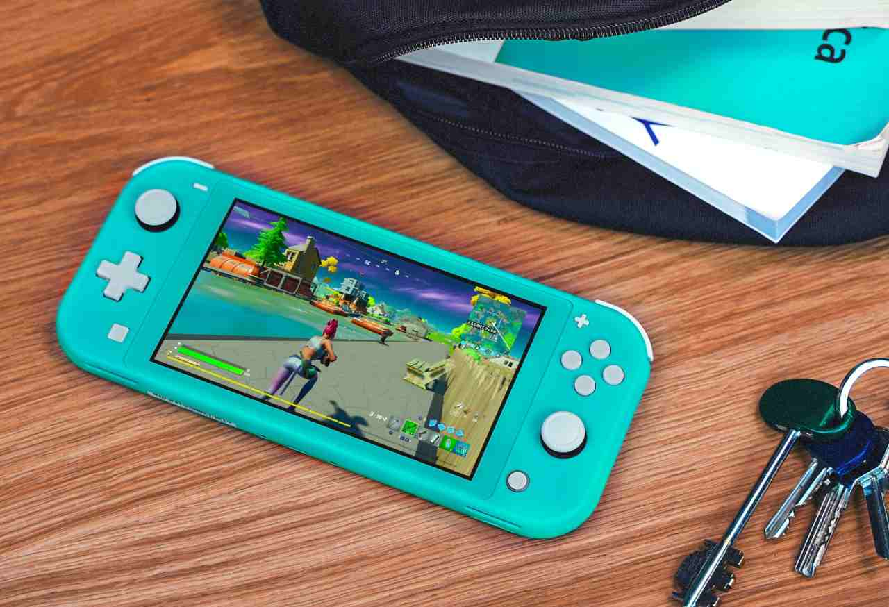 Nintendo switch lite azzurra
