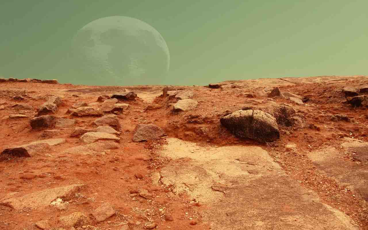 Nuvole luminose Marte