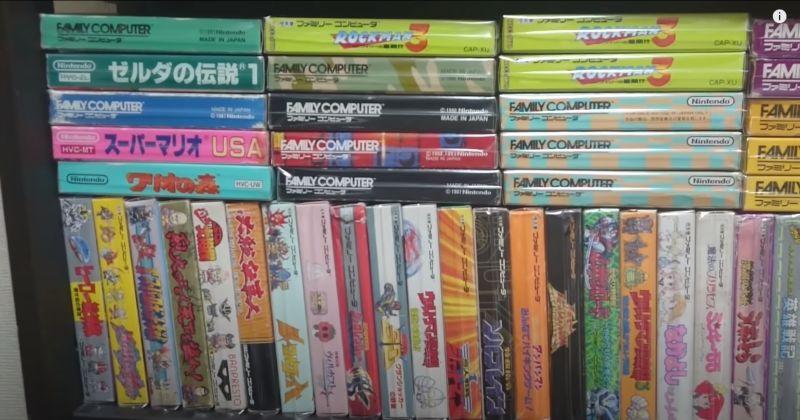 somari youtuber giapponese collezione giochi nes