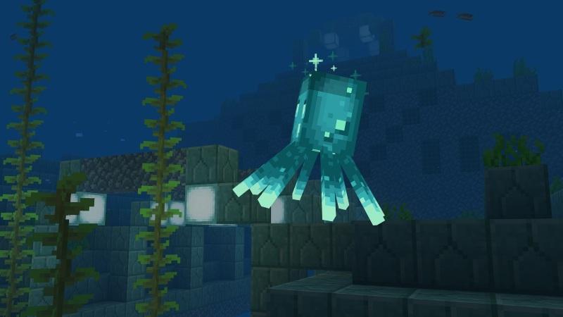 Minecraft mojang calamaro luminoso