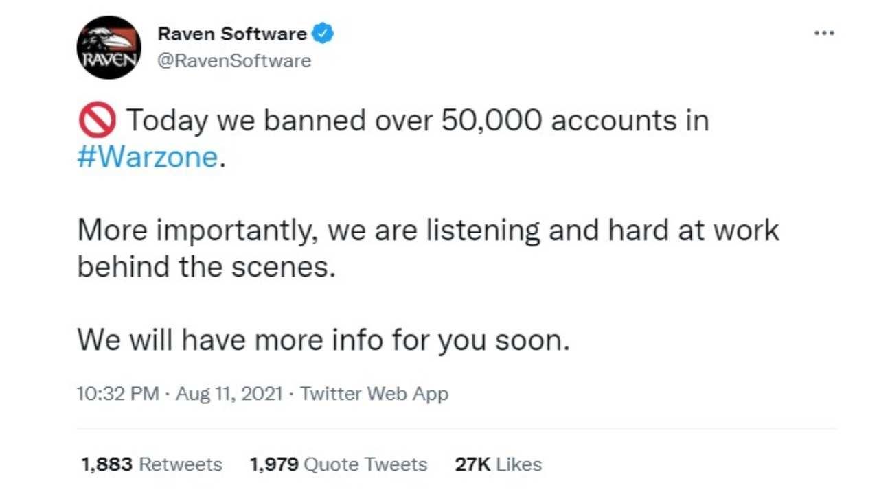 CoD Warzone, 50mila ban e nuove regole contro hacker