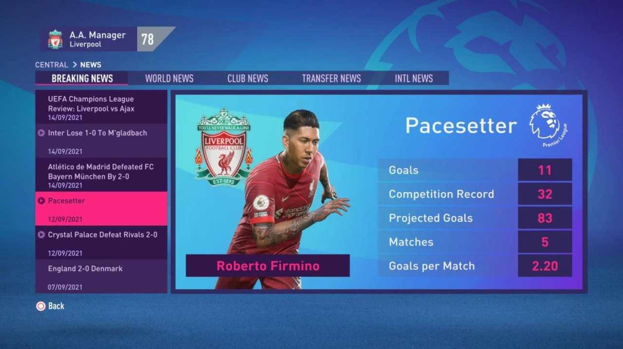 FIFA 22 menu