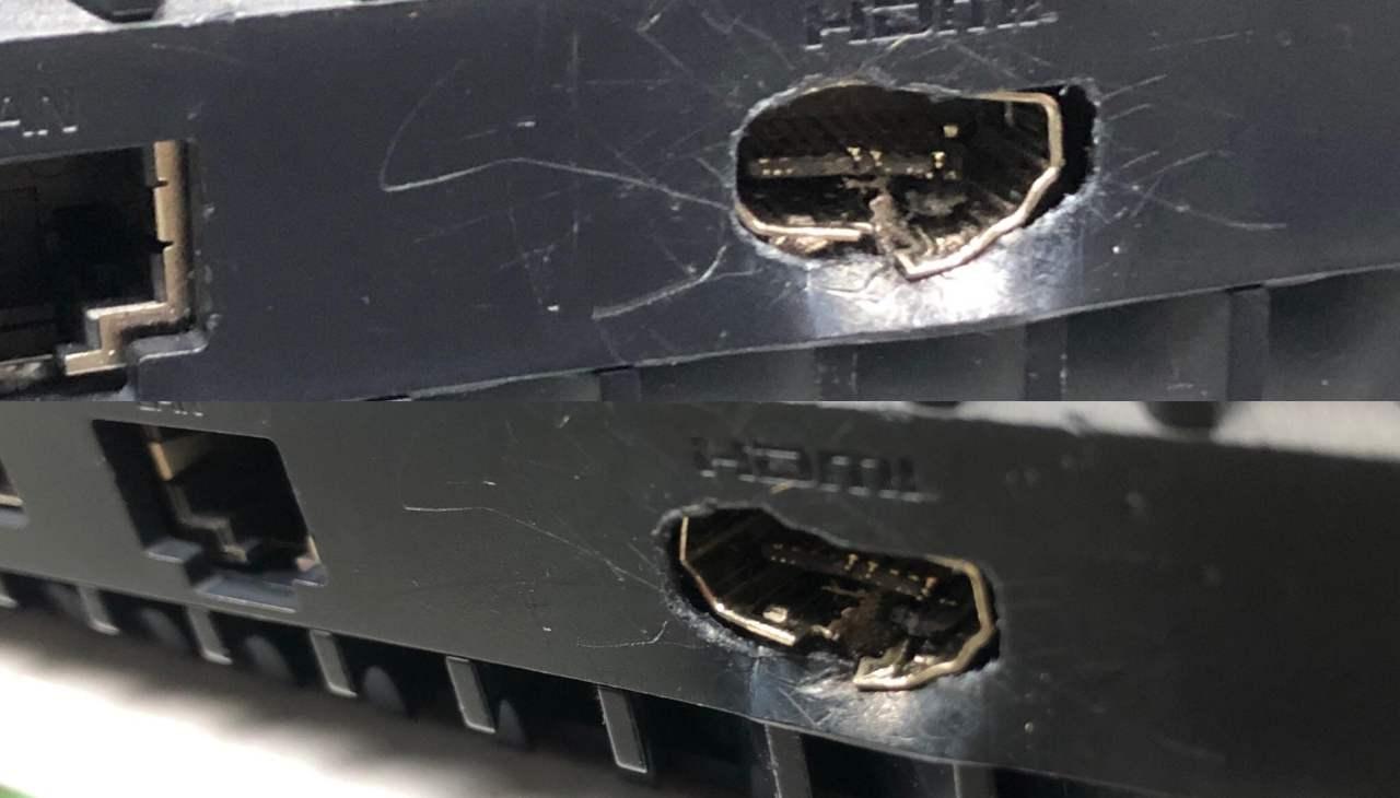 Porta HDMI PS5 distrutta