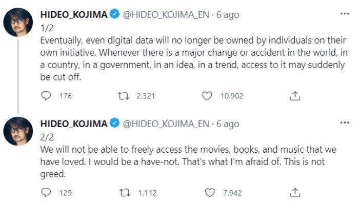 Tweet Hideo Kojima