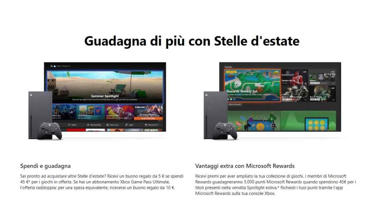 Xbox sta regalando buoni regalo ai propri videogiocatori