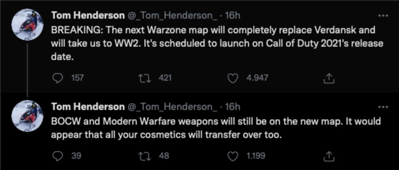 cod warzone mappa