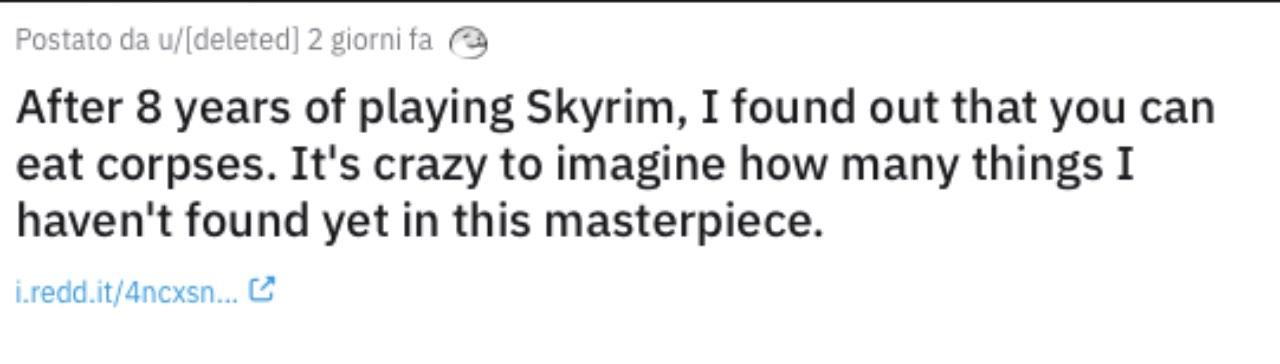 segreto Skyrim