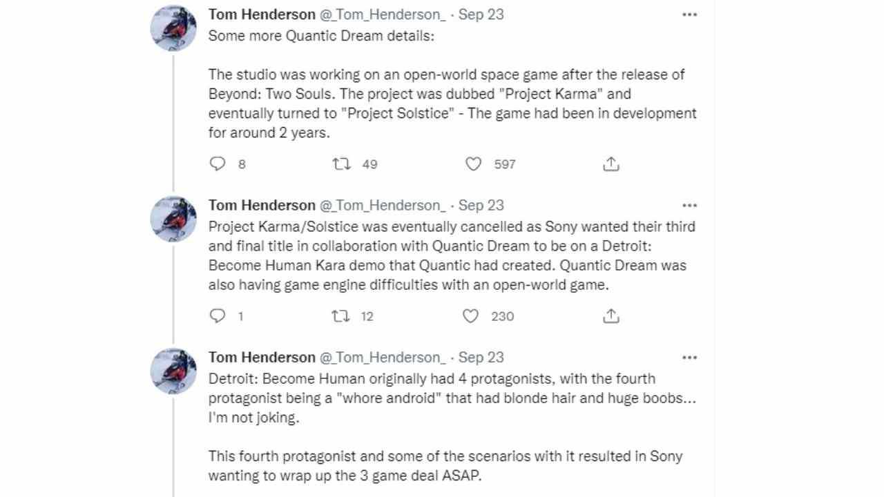 Detroit Become Human, protagonista prostituta eliminata da Sony