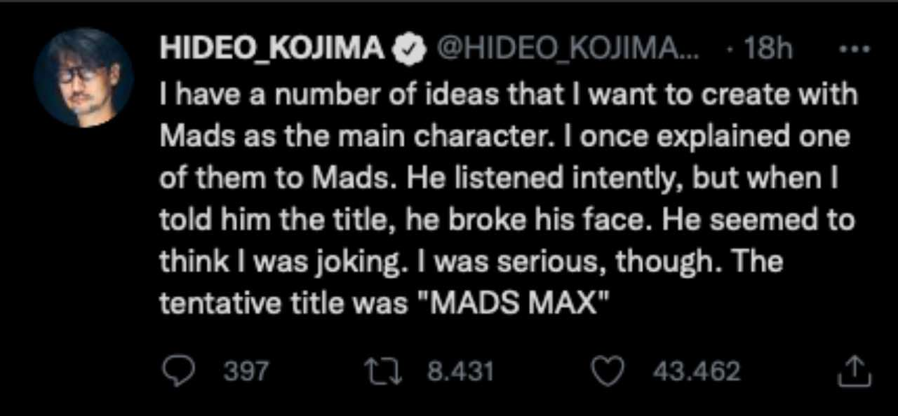 Hideo Kojima Mad Max