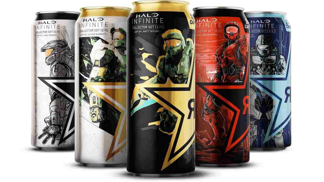 Arrivano gli energy drink di Halo Infinite in 5 gusti - FOTO